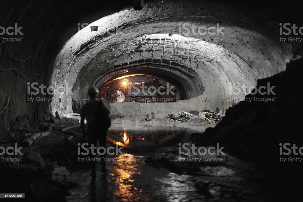 Subway Tunnel Construction royalty-free stock photo