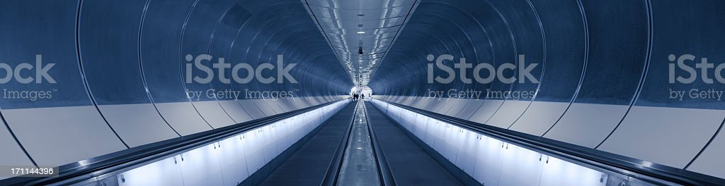 subway tunnel in Rotterdam, the Netherlands  stock photo