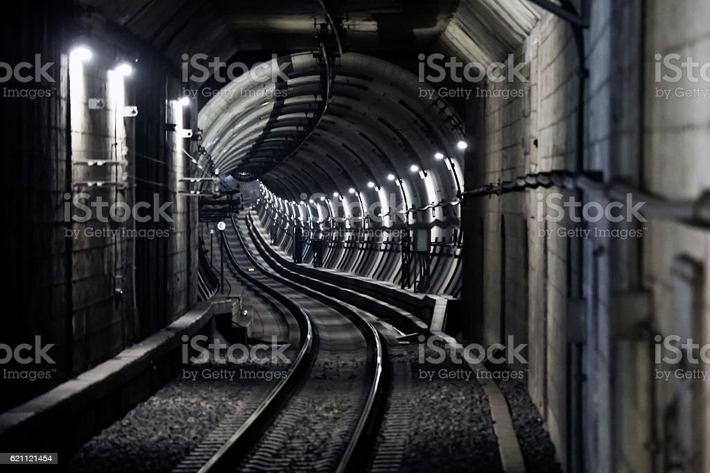 Subway Tunnel stock photo