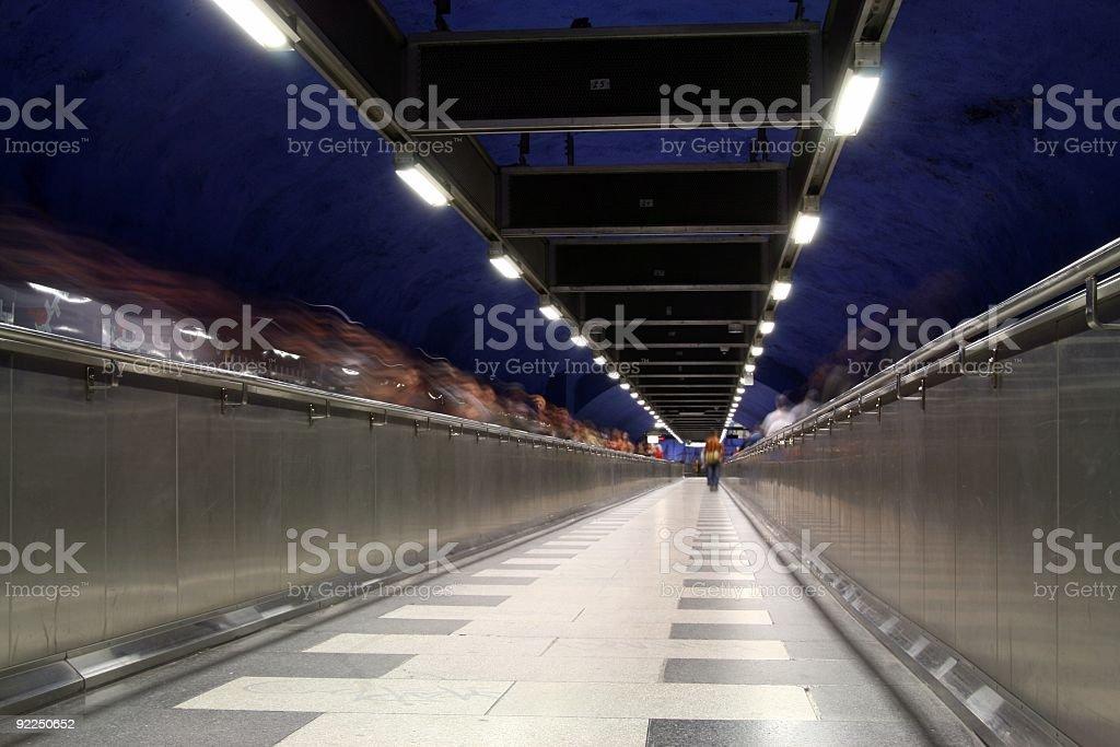 Subway tunnel royalty-free stock photo