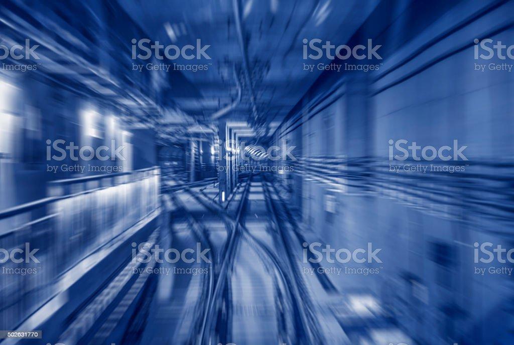 subway tunnels stock photo