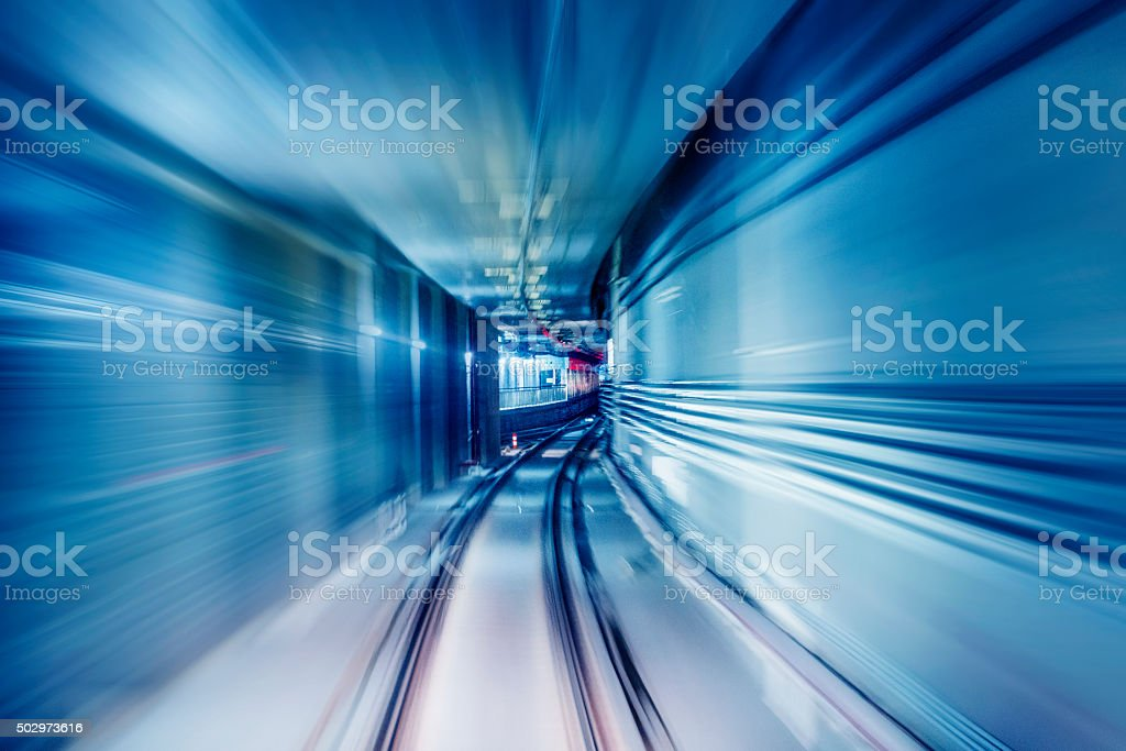 subway tunnels stock photo