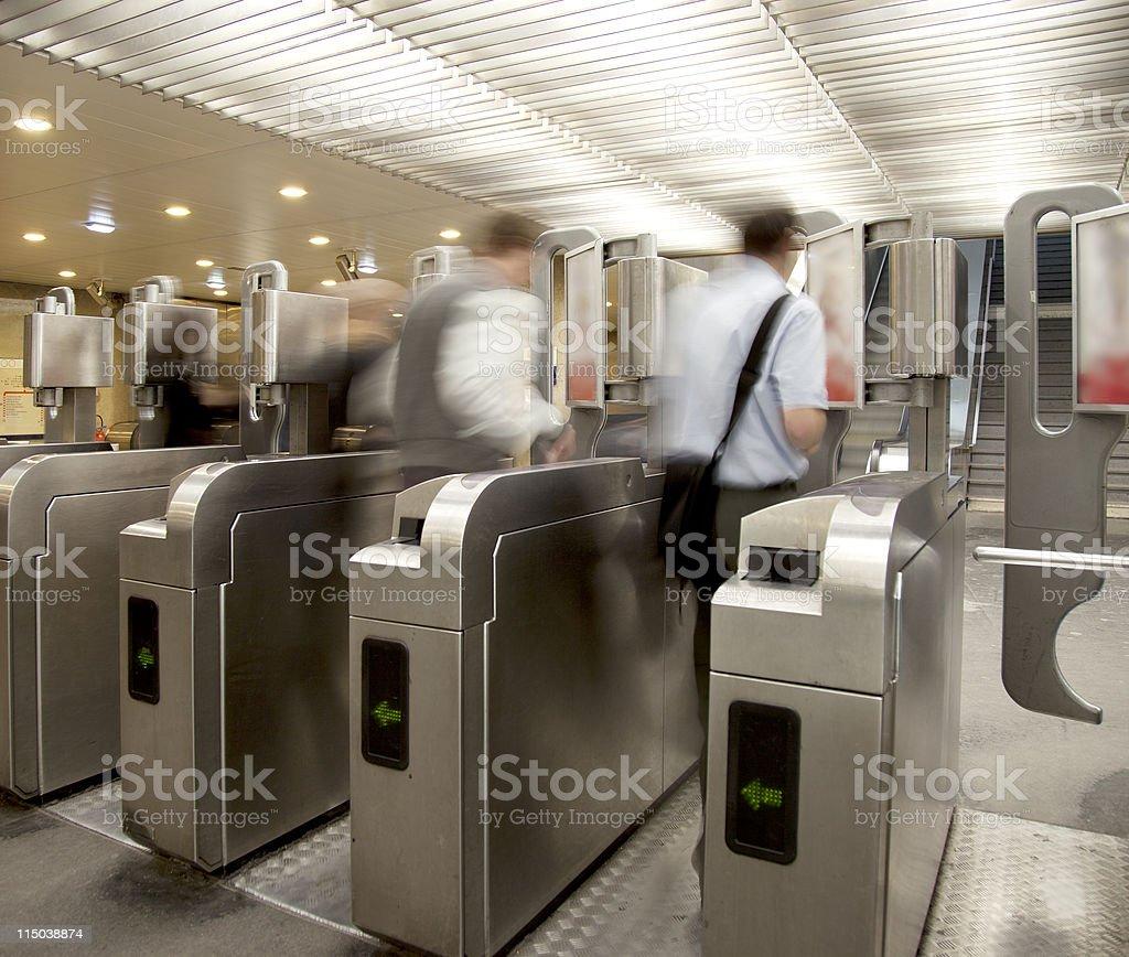 Subway underground entrance stock photo
