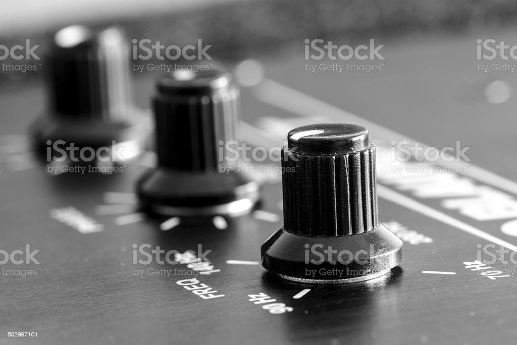 subwoofer knob stock photo