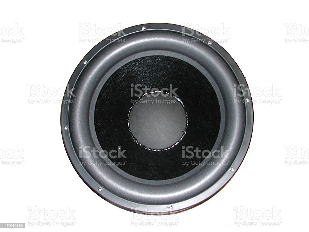 subwoofer stock photo