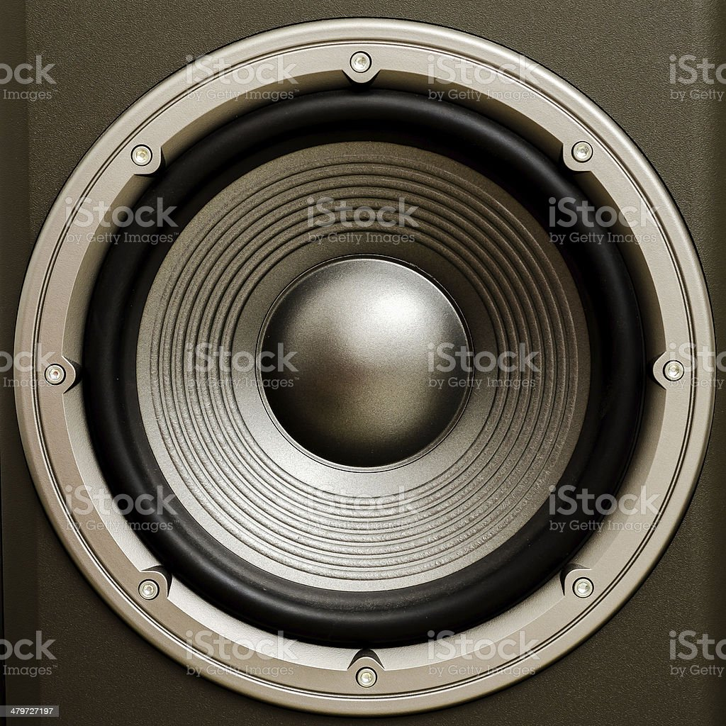 Subwoofer Speaker stock photo