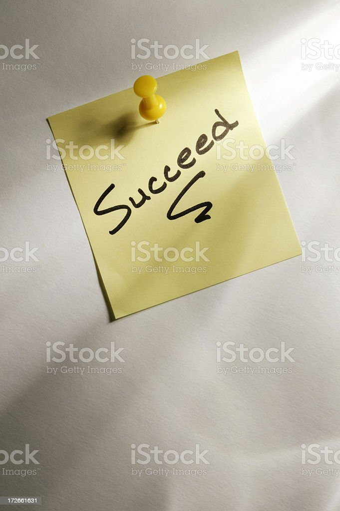 Succeed royalty-free stock photo