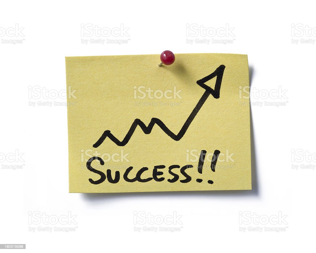 Succes! post-it. royalty-free stock photo