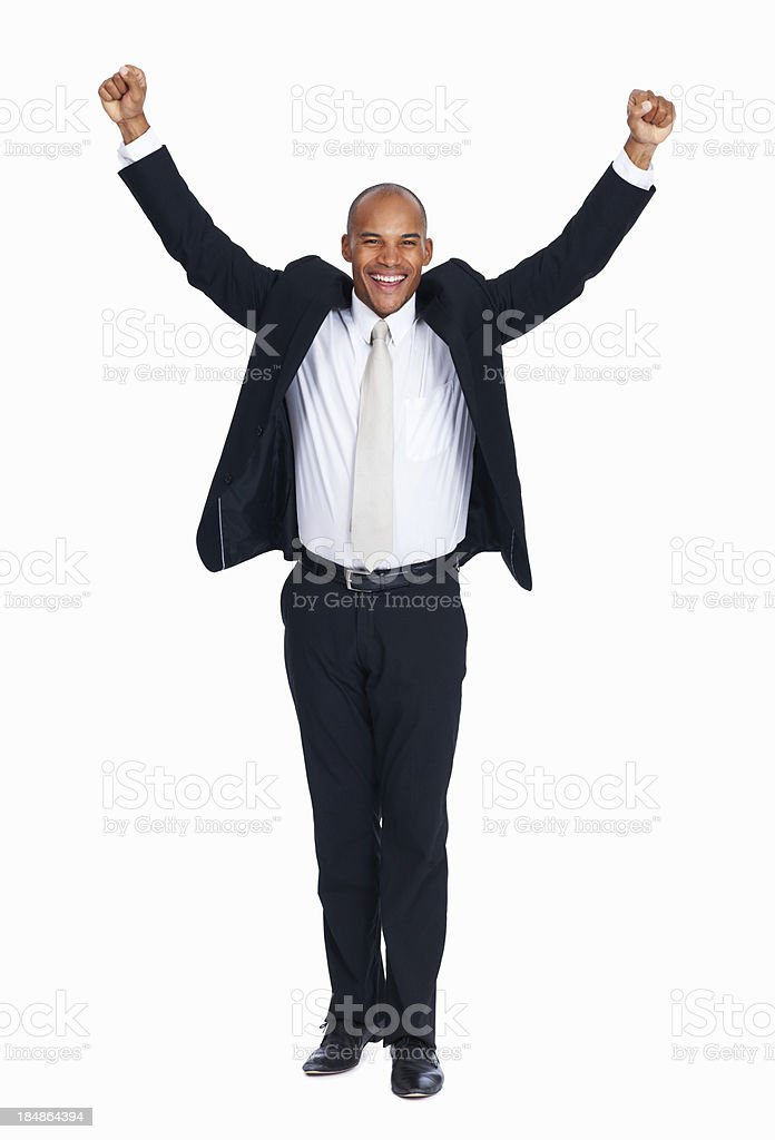 Succesful African American business man stock photo