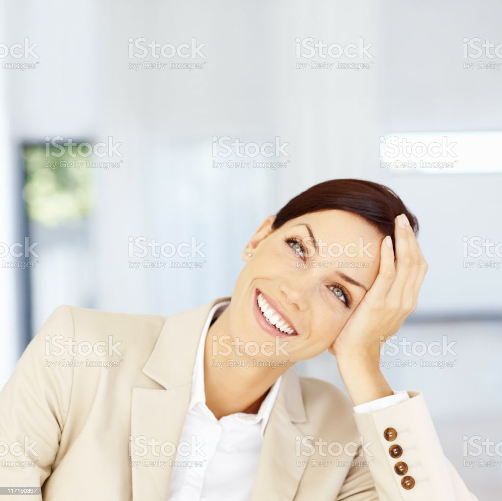 Succesful business woman royalty-free stock photo