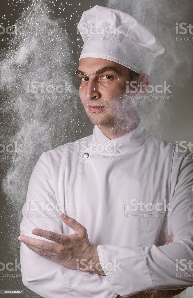 Succesful chef royalty-free stock photo