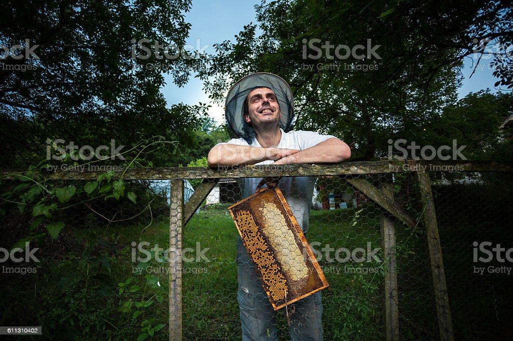 Succesful on his job stock photo