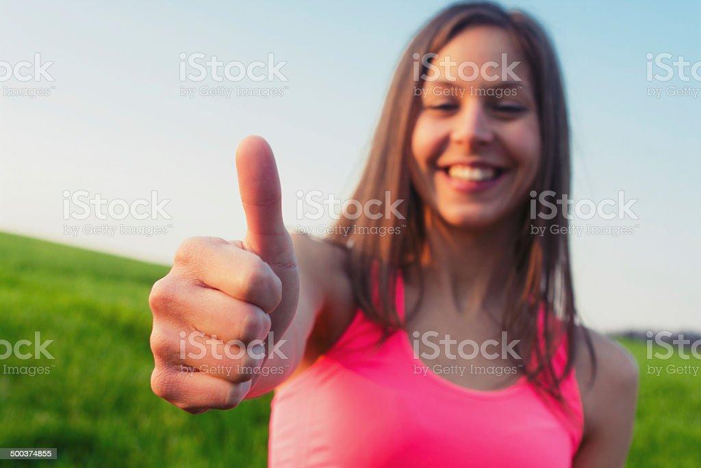 Succesful sport woman stock photo