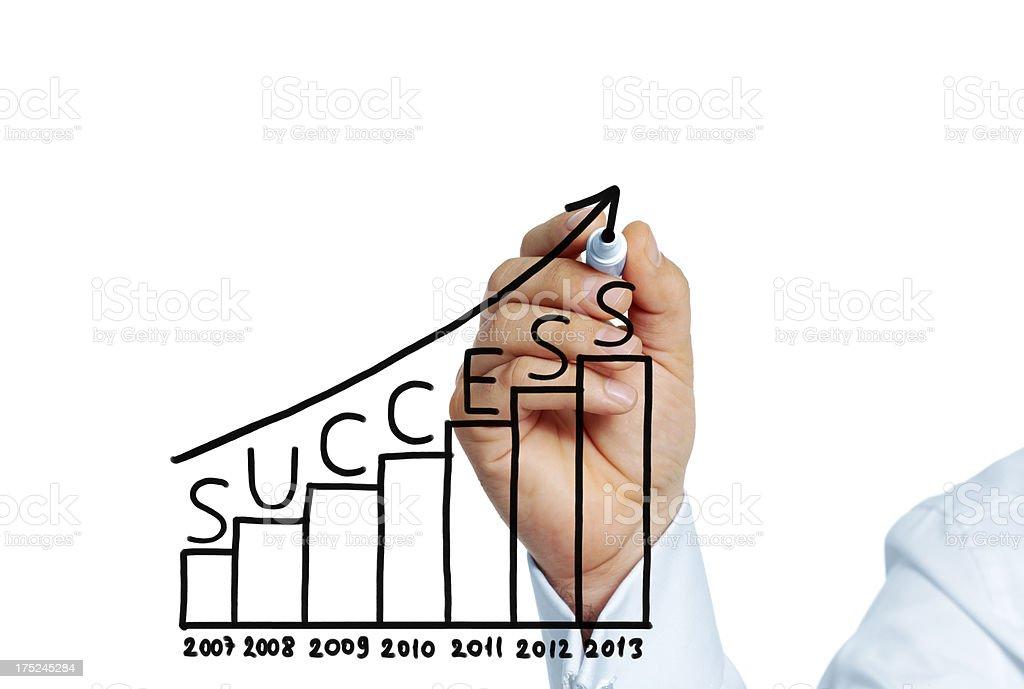 Success 2013 royalty-free stock photo