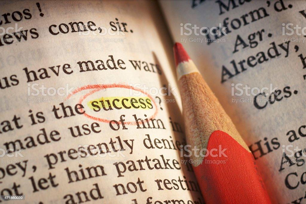 Success according to Shakespeare stock photo