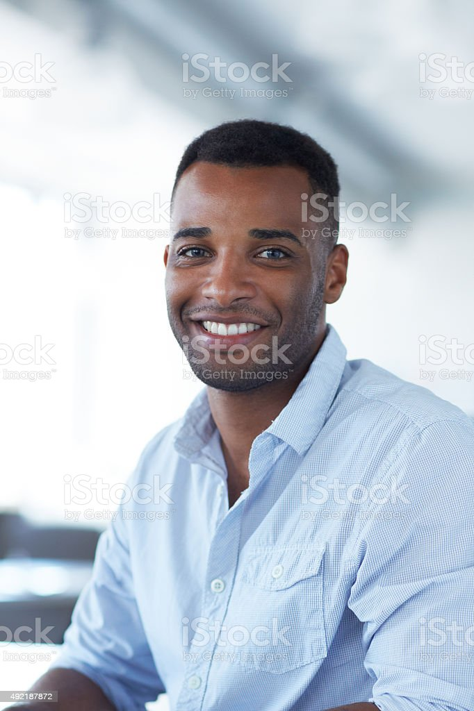 Success always puts a smile on my face stock photo