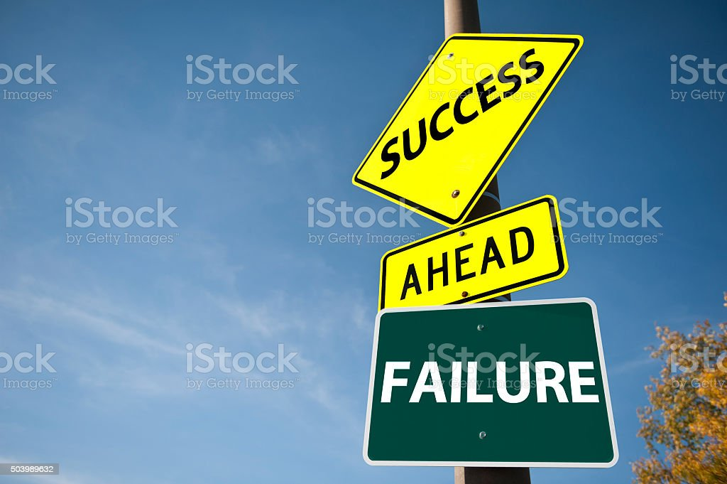 Success, and Failure / Road sign concept (Click for more) stock photo