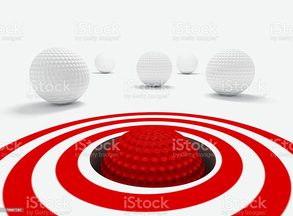 success and golf balls royalty-free stock photo