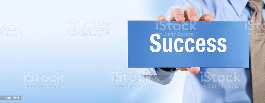 Success - Banner Series royalty-free stock photo