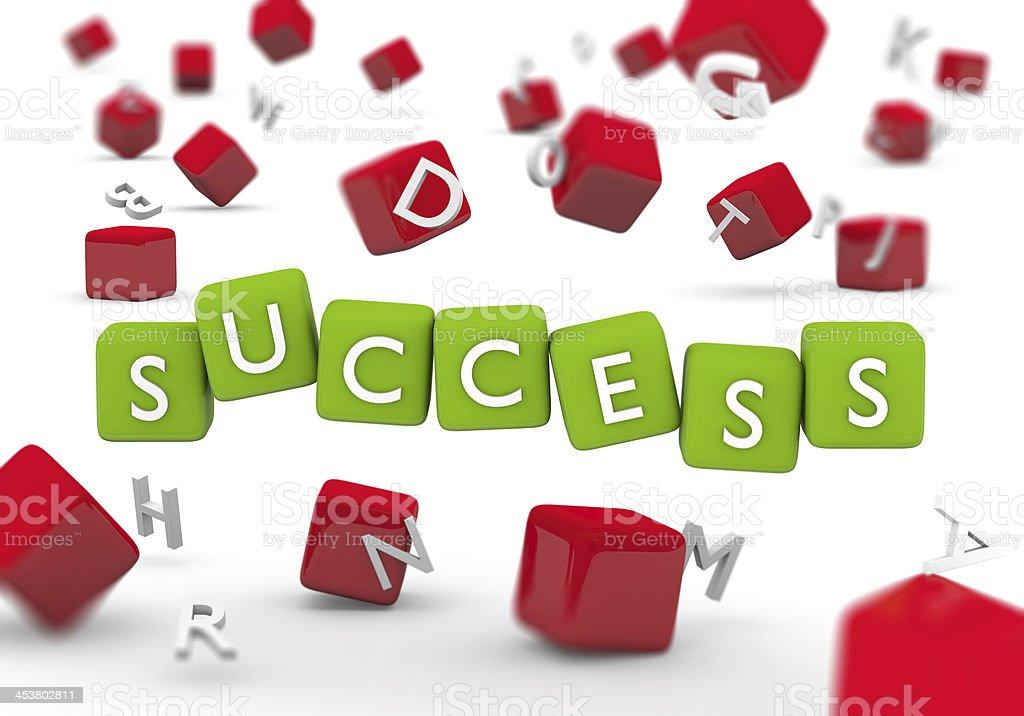 Success Blocks royalty-free stock photo