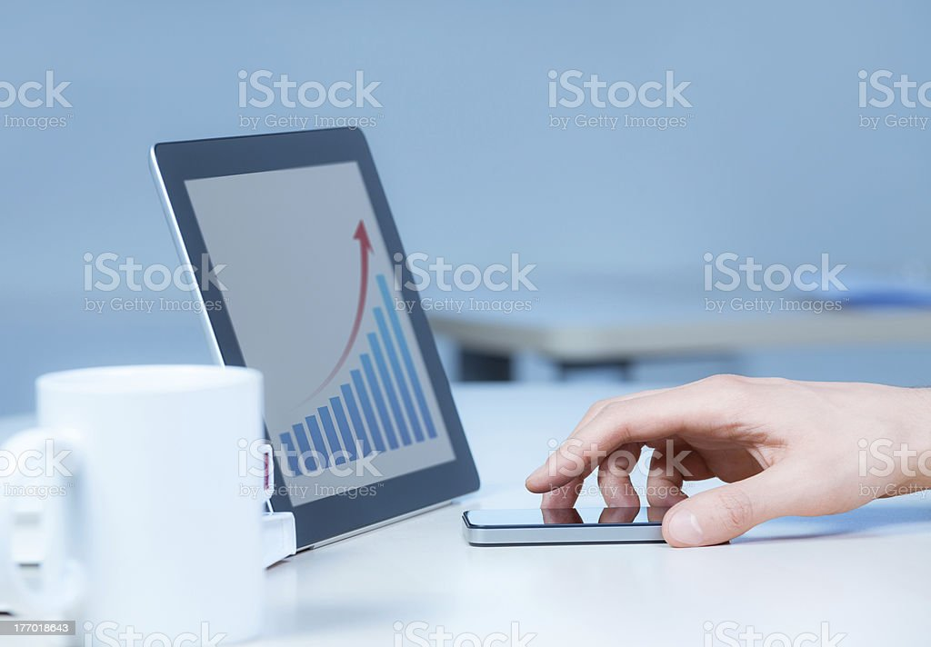 Success Business In One Click royalty-free stock photo