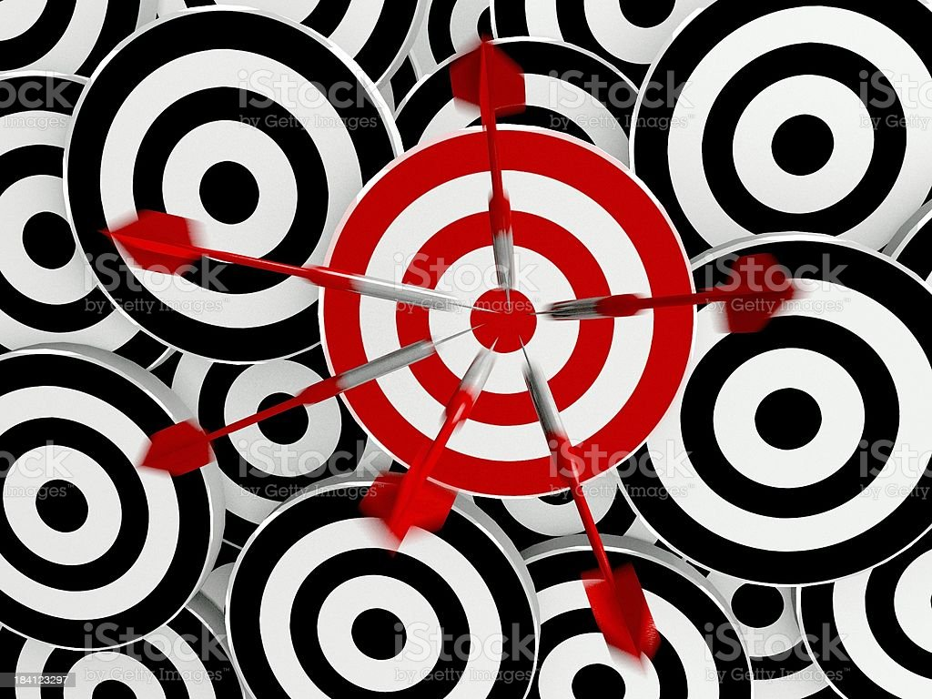 Success business target royalty-free stock photo