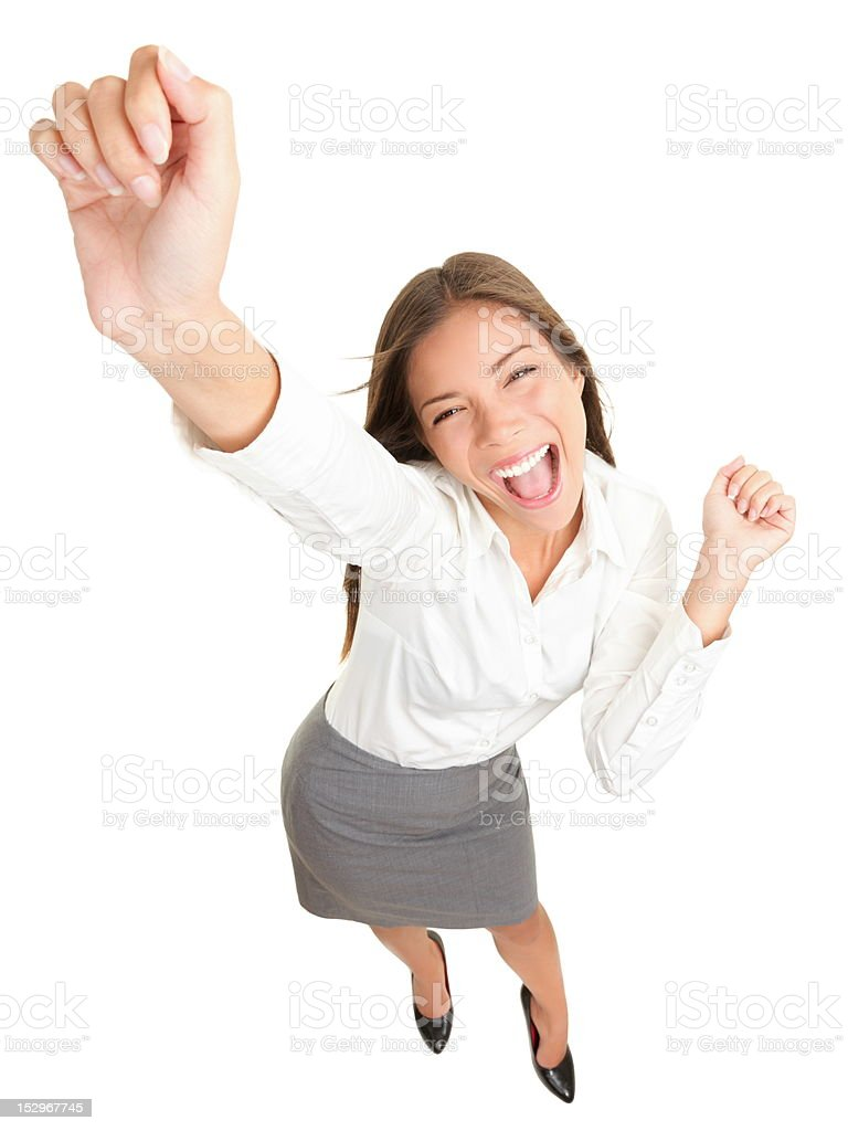 Success business woman dancing royalty-free stock photo