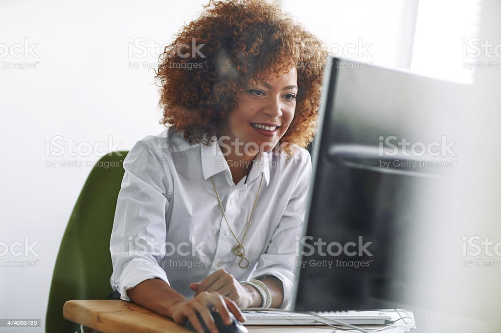 Success can put a smile on most faces stock photo
