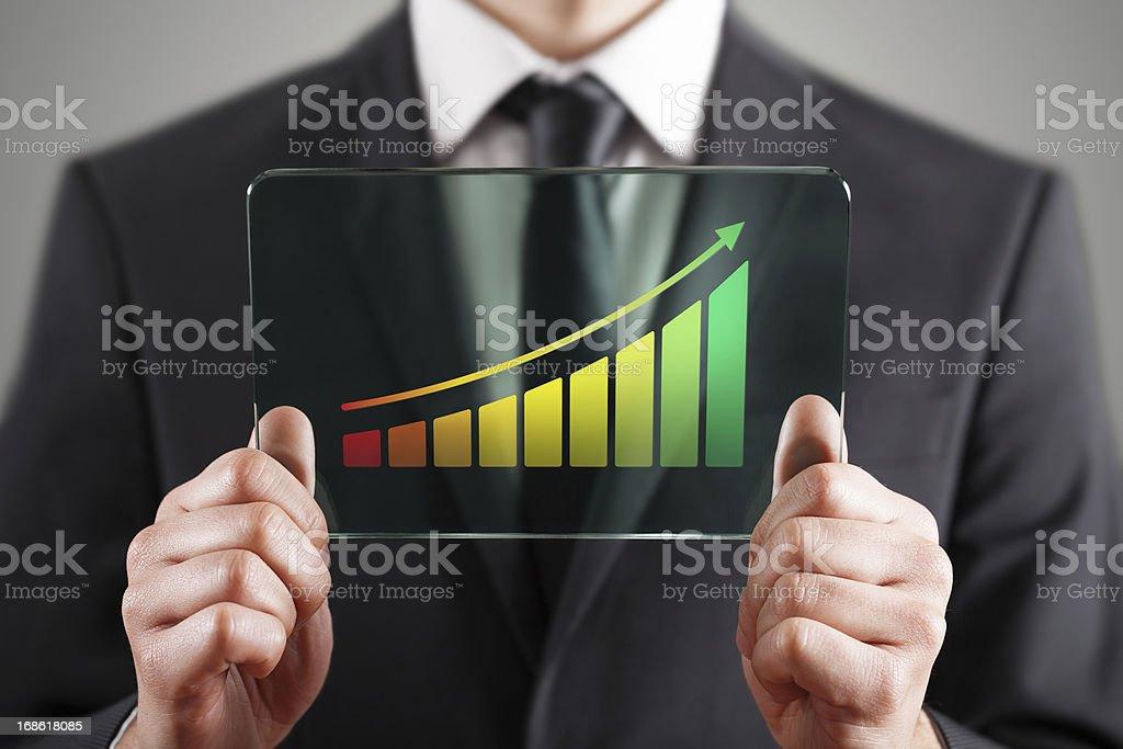 Success chart royalty-free stock photo