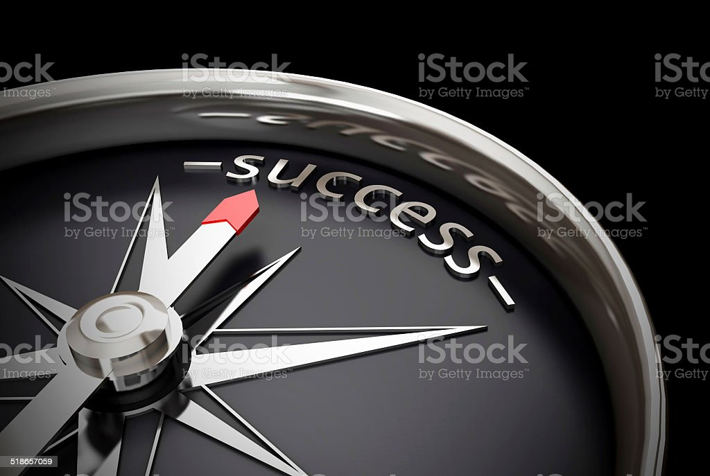 Success compass direction stock photo