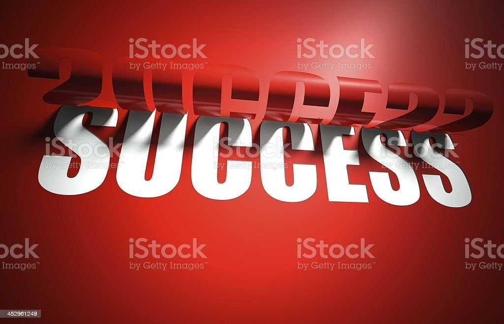 Success concept, cut out in background royalty-free stock photo