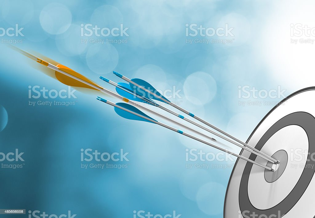 Success Concept, Hitting Target stock photo