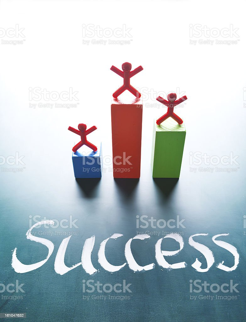 Success concept, people stand on award platform royalty-free stock photo