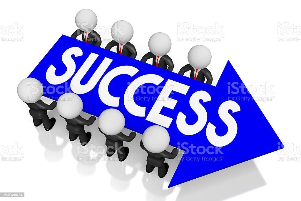 3D success concept stock photo