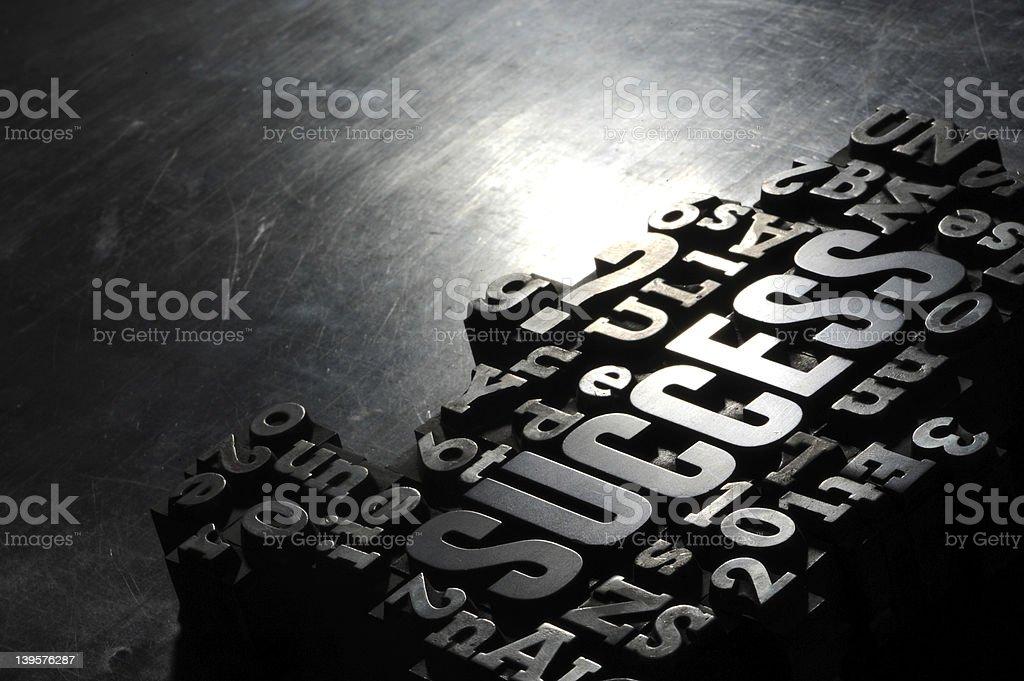 Succès concept de mots connexes photo libre de droits