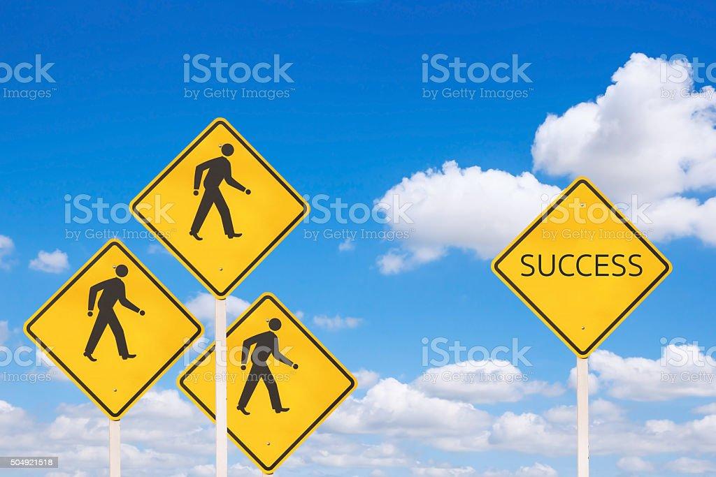 Success creative sign stock photo