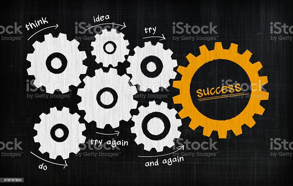 Success Crossword Puzzle stock photo