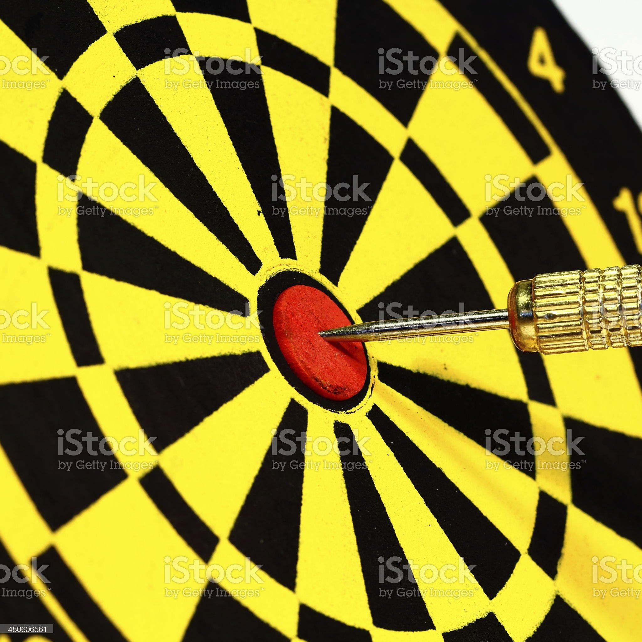 Success! Dart in Bulls eye royalty-free stock photo