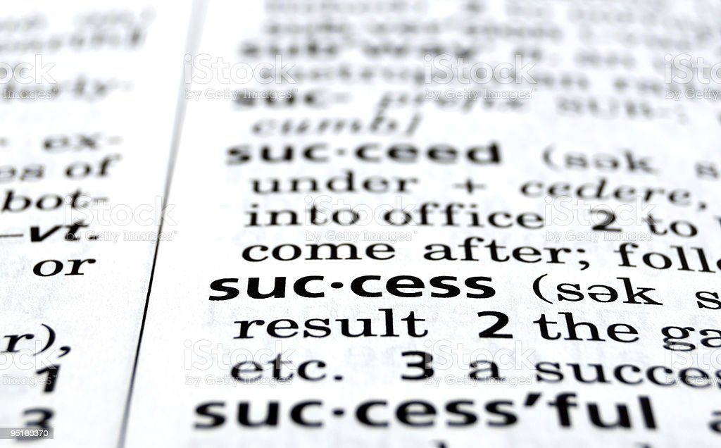 Success Defined royalty-free stock photo