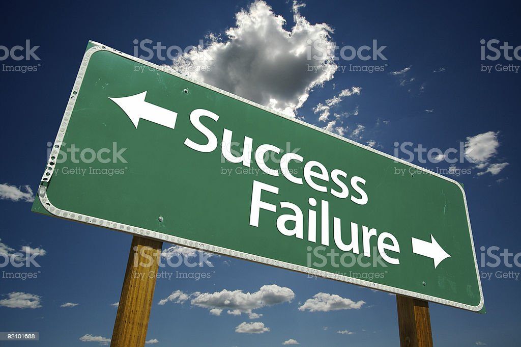 Success, Failure Road Sign royalty-free stock photo