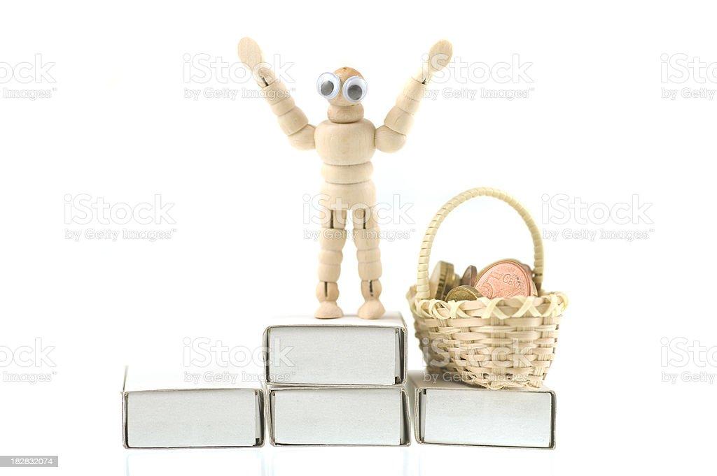 Success figurine winner royalty-free stock photo