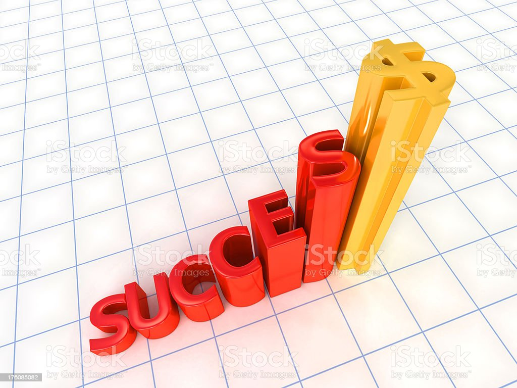success financial graph royalty-free stock photo
