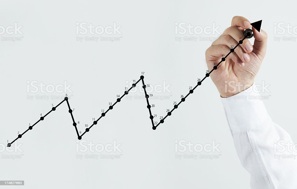 Success Graph royalty-free stock photo
