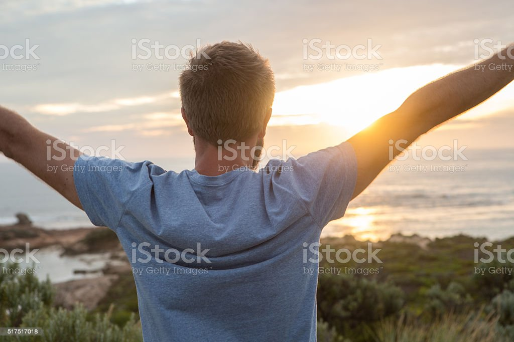 Success, happiness and freedom stock photo
