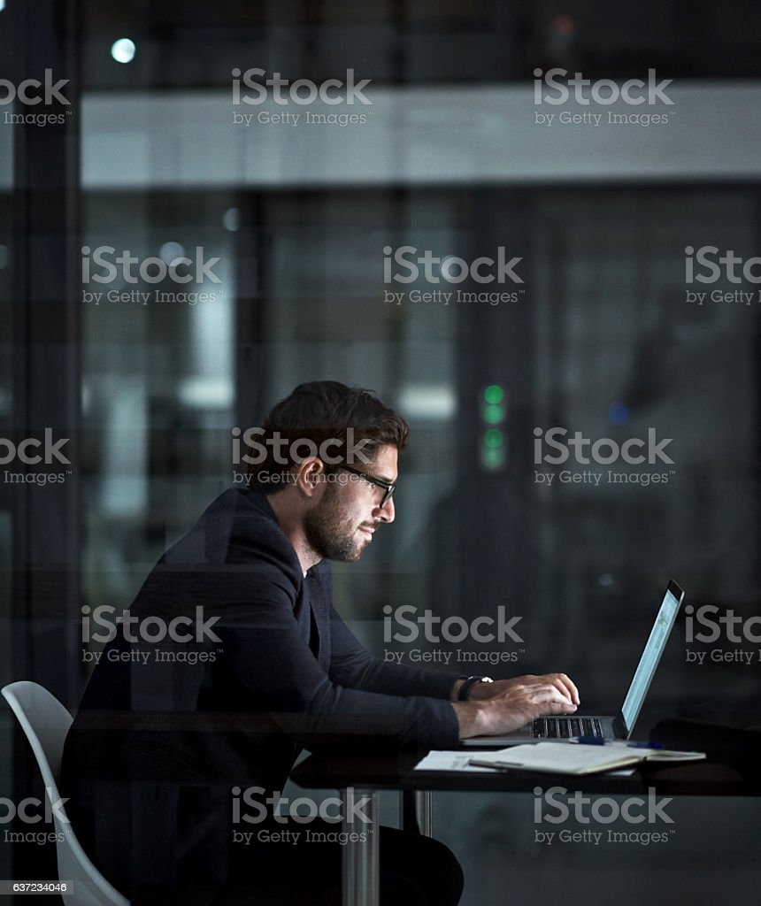 Success - hard work gets you there stock photo