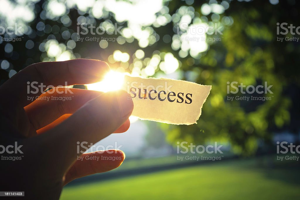 Success in hand stock photo