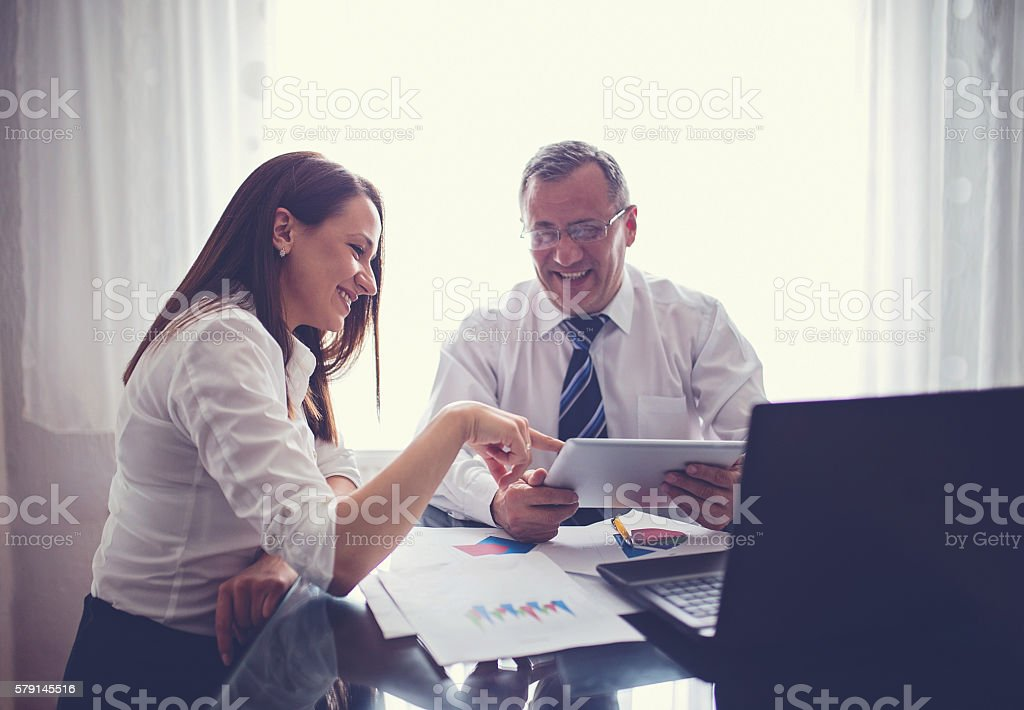 Success in office stock photo