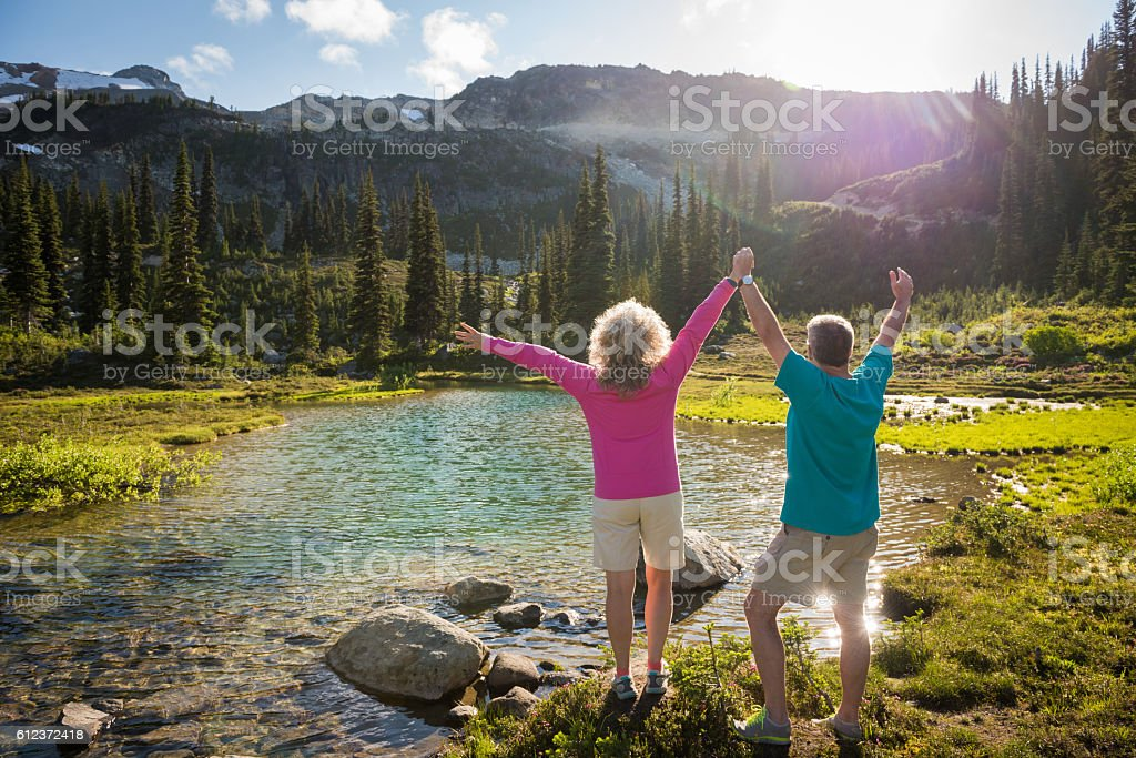 Success in retirement stock photo