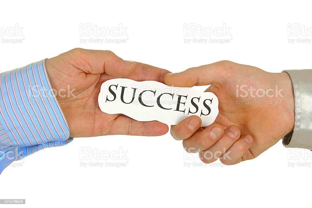 Success in your hand stock photo