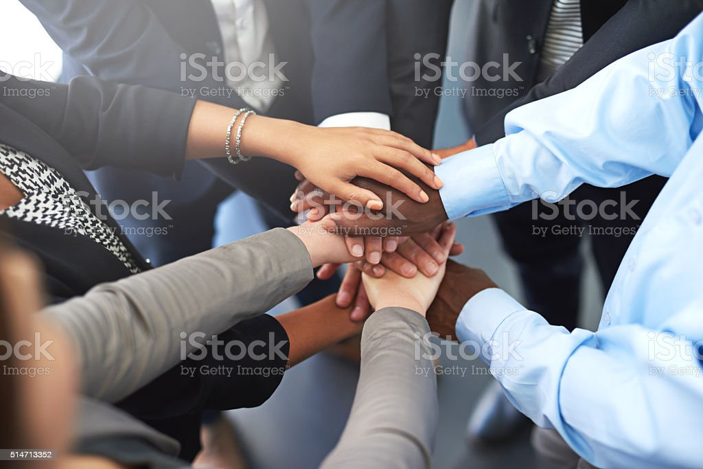 Success is a combined effort stock photo